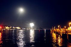 Zurich sea <3 i love how the moon reflects on the clear water 08.10.12