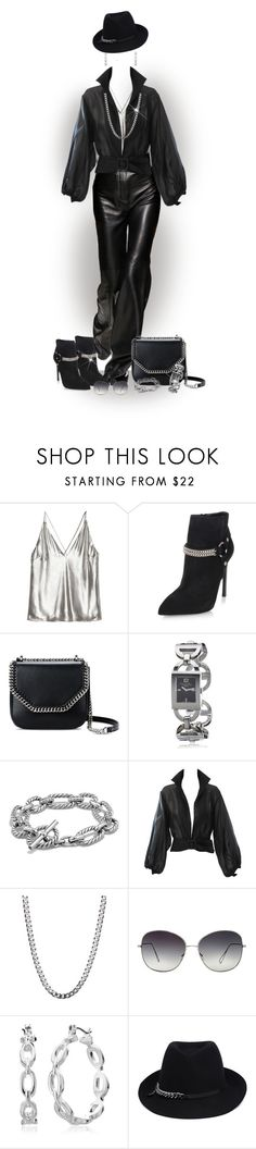 """""""Chain bag and shoes"""" by lorrainekeenan ❤ liked on Polyvore featuring Yves Saint Laurent, STELLA McCARTNEY, Christian Dior, David Yurman, YSL RIVE GAUCHE, Oliver Peoples and Nine West"""