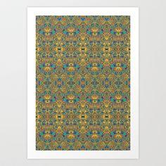 Arabic Marigold Art Print by Geetika Gulia - $16.00