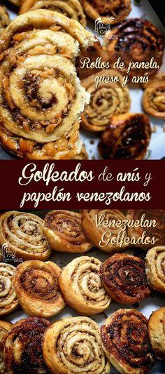 Paladares {Sabores de nati }: Golfeados de anís y papelón venezolanos. Rollos de panela, queso y anís. anís, cocina del mundo, cocina internacional, cocina venezolana, golfeados, golfeados venezolanos, hinojo, pan dulce, panela, papelón, queso, rollos de pan, rollos de panela y queso, rolls, venezuela,