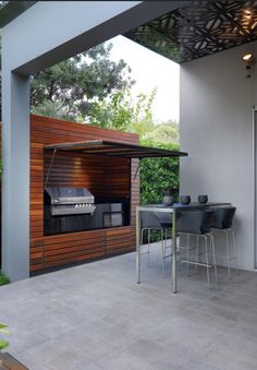 Now THIS is outdoor living #BBQ #Outdoorliving #GrillStation
