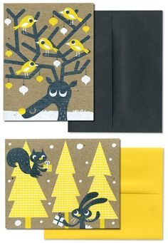 Holiday Cards by Tad Carpenter
