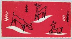 mid century Christmas card... less is more