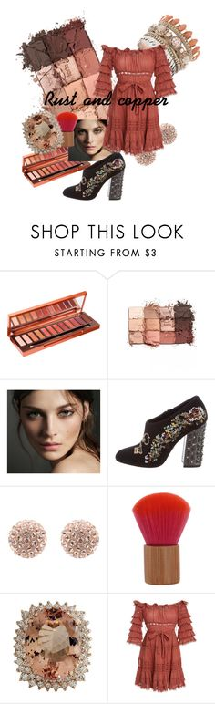 """""""Rust dress"""" by blumbeeno ❤ liked on Polyvore featuring Urban Decay, tarte, Burberry, Dolce&Gabbana and Zimmermann"""