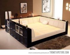 couch/sofa like this, except put it in the floor...then cover with wood and have all kinds of open space!