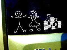 the alternative to 3 stick figure kids and 1  stick figure dog.