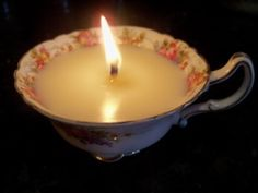 Ideas for Celebrating Candlemas- Feb 2. Crepes and diy teacup candles.