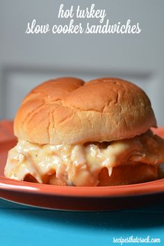Crock Pot Turkey Sandwiches - Great for leftovers!