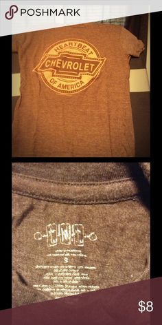 Brown Chevrolet shirt Great for the weekend bonfire or country concert! Tops Tees - Short Sleeve