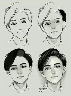 Face Drawing Drawing-Tutorial-for-Occasional-Artists - While there are tons of things out there to draw, it is not simple always. However, these Drawing Tutorial for Occasional Artists will help you out. Digital Painting Tutorials, Digital Art Tutorial, Art Tutorials, Digital Paintings, Drawing Faces, Manga Drawing, Boy Hair Drawing, Shading Drawing, Female Drawing