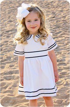 Anchors Aweigh Sailor Dress Vintage Sailor by PeekabooPatternShop