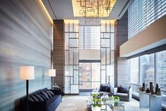 Park Hyatt New York—which debuted last month on West 57th Street—occupies the first 25 floors of the 90-story One57 tower