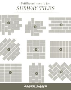 Alice Lane Home_9 Different Ways To Lay Subway Tiles