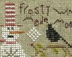 Stone Snowman is the title of this cross stitch kit from Shepherd's Bush - until market, this is the only snippet we can see!