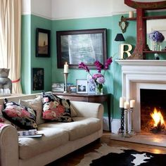 Colourful + cozy Victorian villa in Hastings, East Sussex // Different color on the wall for me and it would be perfect!