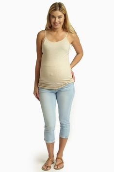 Warm months are finally here and what is better than having a cool, comfortable, and stylish cuffed maternity cropped jean in your wardrobe.
