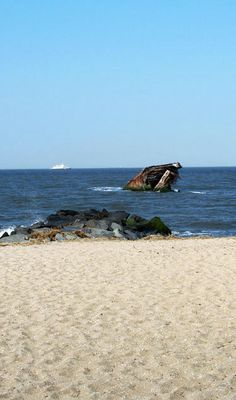 """Cape May NJ. Memories of searching for """"cape may diamonds"""" and watching porpoises"""