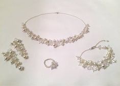 bridal sets & bridesmaid jewelry sets – a complete bridal look Bridesmaid Accessories, Bridesmaid Jewelry Sets, Bridesmaid Earrings, Bridal Bracelet, Bridal Earrings, Crystal Earrings, Bridal Ring Sets, Bridal Jewelry Sets, Sterling Silver Anklet