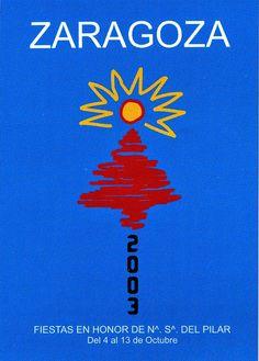Cartel a concurso del Pilar año 2003 Titulo: Un punto de encuentro