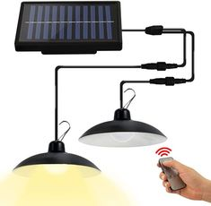 The solar panel can be adjusted to 180° left and right, and 100° up and down, ensuring that the panel absorb enough sunlight. Powered by our high efficient solar panel and 2200mAh rechargeable battery. Can light up to 12 hours in summer and 5 hours in winter after fully charged. Charging time: 6-8 hours. No oil, no fires, no pollution and no electricity bill. Small Chicken Coops, Barn Storage, Can Lights, Solar Power, Solar Panels, Light Up, Pendant Lighting, Light Fixtures, Indoor Outdoor