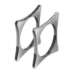 #MelissaKayeJewelry Catherine #ring in #18k black #gold with #diamonds #jewelry #finejewelry #blackgold #blackdiamonds #fashion #style