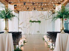 Modern Denver Wedding With a Black + Gold Palette