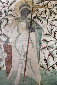Unknown German Artist St. Maurice Mural painting (detail) Germany (c. 1464) Roskilde, Domkirche. via The Image of the Black in Western Art Vol II, Part1. photo via supernaut.info