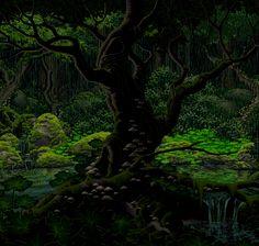 Rainforest in forest 8 bit digital art – Google Art