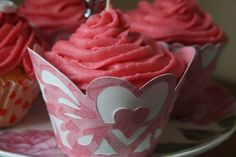 Cricut Heart Cupcake Wrapper.  *
