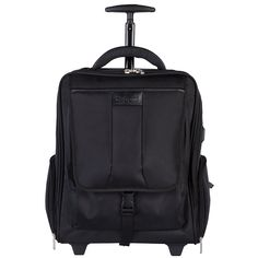Bugatti Rolling Black 17-inch Laptop Backpack by Bugatti