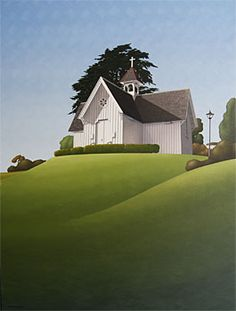 Brian Dahlberg // St Stephens Chapel  Oil on canvas, 101 x 75  #Art #Landscape #Oil #Painting #NewZealand