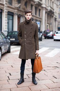 Great coat and bag
