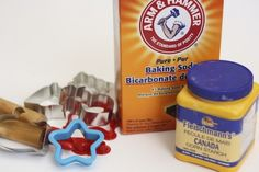 Ingredients for making white clay for kids ornaments