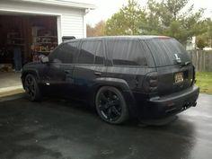 blacked out trailblazer ss - Google Search Chevrolet Trailblazer, Chevy Trailblazer, Gmc Envoy, Chevy Ss, Love Car, Sexy Cars, Vroom Vroom, Chevy Trucks, Custom Cars