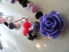 #watdoetvanessanu zelfmaken ketting, roosjes, sieraden, diy, inspiratie zoet geluk ketting paars