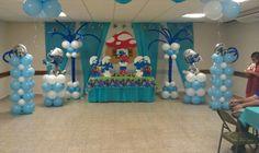 Smurfs balloon decoration