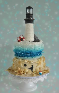 Summer At the Lighthouse - Cake by Statesboro Sweets
