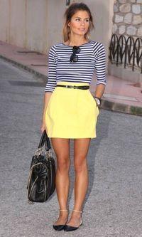 Look: Listras + Amarelo
