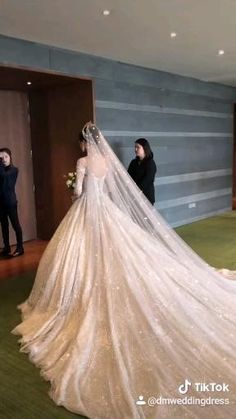 Fancy Wedding Dresses, Gorgeous Wedding Dress, Princess Wedding Dresses, Wedding Dress Long Train, Cathedral Wedding Dress, Princess Ball Gowns, Wedding Gowns, Bridal Outfits, Bridal Dresses