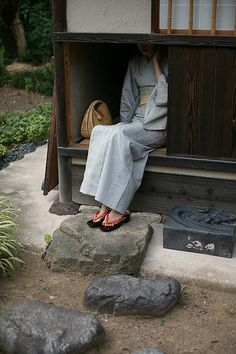 Entrance of Japanese tea house