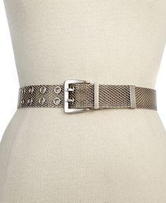 Steve Madden Belt, Mesh Belt - Belts - Handbags & Accessories - Macy's