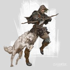 Rpg character class - hunter,by jordy knoop character sketches, game charac Dark Fantasy, Fantasy Rpg, Medieval Fantasy, Dungeons And Dragons Characters, Dnd Characters, Fantasy Characters, Fantasy Figures, Game Character, Character Concept