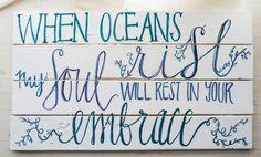 Oceans watercolor sign
