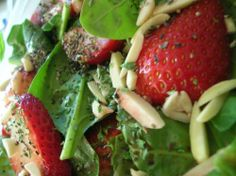 Lazy Girl's Strawberry Spinach Salad Recipe