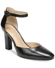 94f6668f8c7 Naturalizer Gianna Ankle-Strap Pumps - Black 10.5M Black Chunky Heels