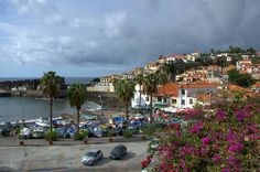 Autumn Morning in Camara de Lobos Madeira #portugal #madeira #island #madeiratrip #camaradelobos #travel #fall #autumn #morning #fishing #boats #dock #atlantic #ocean #clouds #nikon #nikon7000 #nikonphotography