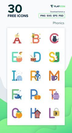 30 Phonics icons for personal and commercial use. Basic Miscellany Flat icons. Download now free icon pack from Flaticon, the largest database of free vector icons. #Flaticon #icons #teacher #education #school #college
