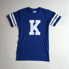 Old school varsity letter football tee from Shop Local Kentucky