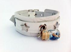 Lederen armband met siernieten en herdenkings door Armbandenenzo, €15.50