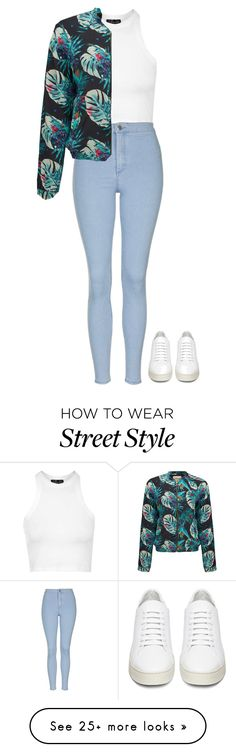 """Street Style Outfit"" by mayalexia on Polyvore featuring Topshop, PYRUS and Off-White"